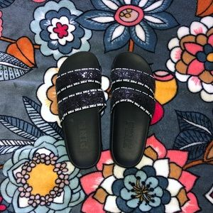 PINK Glitter Slip-on Sandals